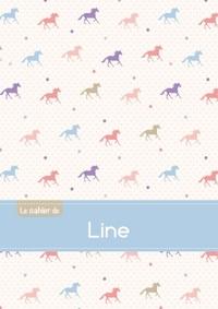 LE CAHIER DE LINE - SEYES, 96P, A5 - CHEVAUX