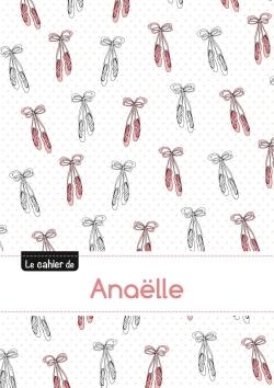 LE CAHIER D'ANAELLE - PETITS CARREAUX, 96P, A5 - BALLERINE