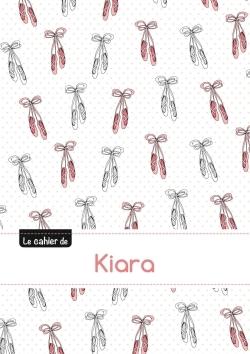 LE CAHIER DE KIARA - PETITS CARREAUX, 96P, A5 - BALLERINE