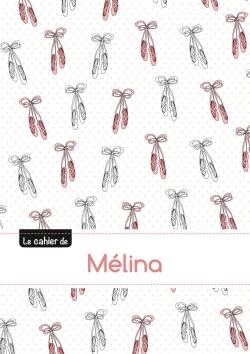 CAHIER MELINA PTSCX,96P,A5 BALLERINE