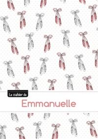 LE CAHIER D'EMMANUELLE - BLANC, 96P, A5 - BALLERINE