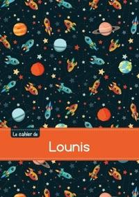 LE CAHIER DE LOUNIS - PETITS CARREAUX, 96P, A5 - ESPACE