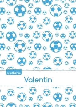 CAHIER VALENTIN BLANC,96P,A5 FOOTBALLMARSEILLE