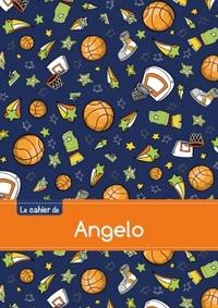 LE CAHIER D'ANGELO - BLANC, 96P, A5 - BASKETBALL