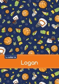 LE CAHIER DE LOGAN - BLANC, 96P, A5 - BASKETBALL