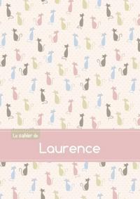 LE CAHIER DE LAURENCE - PETITS CARREAUX, 96P, A5 - CHATS
