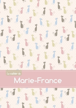 CAHIER MARIE FRANCE BLANC,96P,A5 CHATS
