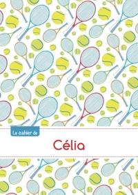 LE CAHIER DE CELIA - PETITS CARREAUX, 96P, A5 - TENNIS
