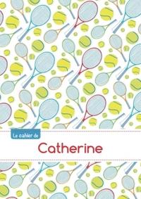 LE CAHIER DE CATHERINE - BLANC, 96P, A5 - TENNIS