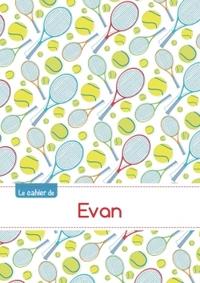LE CAHIER D'EVAN - BLANC, 96P, A5 - TENNIS