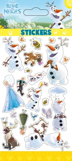 OLAF EN ETE, REINE DES NEIGES, STICKER SHEETS GLITTER
