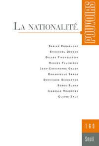 POUVOIRS, N  160. LA NATIONALITE