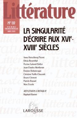 LITTERATURE N  137 (1/2005)