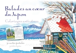 BALADES AU COEUR DU JAPON CARNET COLORIAGES CARTE POSTALE