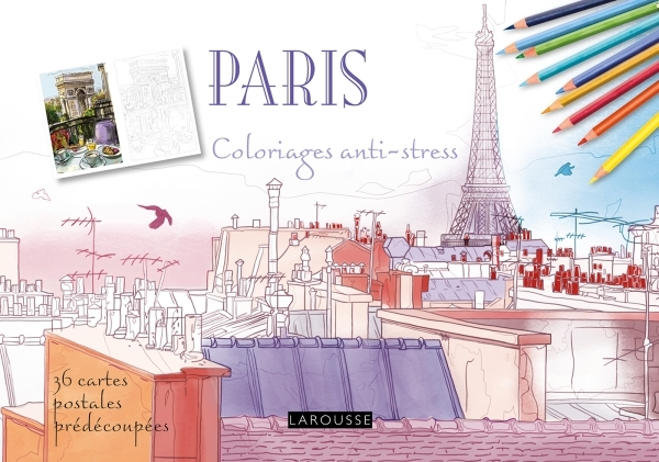 PARIS COLORIAGES CARTES POSTALES