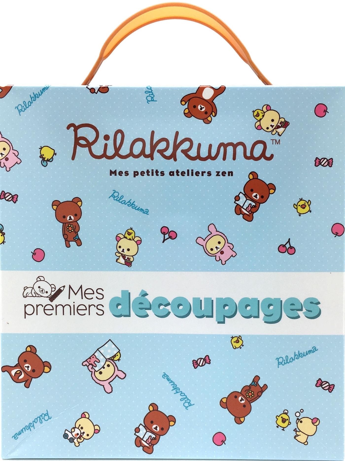 MES PREMIERS DECOUPAGES RILAKKUMA