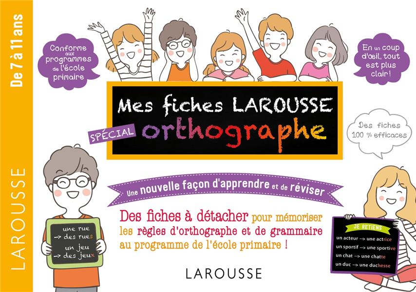 FICHES DE REVISION CYCLE 3 ORTHOGRAPHE