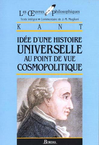 IDEE HISTOIRE UNIVERSELLE POINT DE VUE COSMOPOLITIQUE