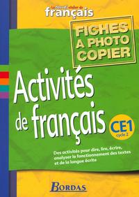ACTIV FRANCAIS CE1 REPROFICHES