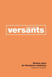 REVUE VERSANTS N 60/3. FASCICULE ESPAGNOL.