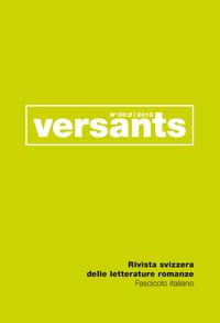 REVUE VERSANTS N 60/2. FASCICULE ITALIEN.