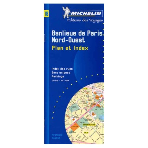 PLAN BANLIEUE PARIS N/O + REPERTOIRES DES RUES