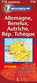 CARTE ROUTIERE 719 ALLEMAGNE/BENELUX/AUTRICHE/REPUBLIQUE TCHEQUE 2006
