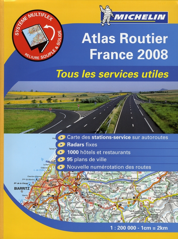 AED ATLAS ROUTIER FRANCE 2008 1/200.000 (BROCHE)