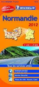 CARTE ROUTIERE NORMANDIE 2012