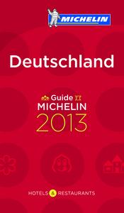 GUIDE MICHELIN DEUTSCHLAND 2013 EN ALLEMAND
