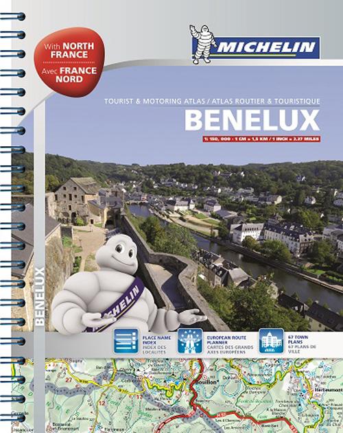 BENELUX & NORTH OF FRANCE / BENELUX & FRANCE NORD - ATLAS ROUTIER ET TOURISTIQUE
