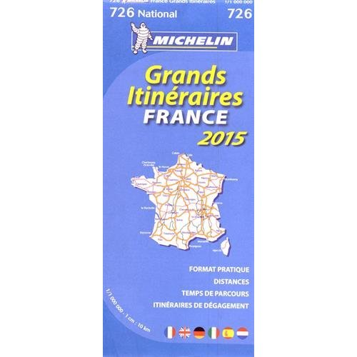 CARTE NATIONALE GRANDS ITINERAIRES FRANCE 2015