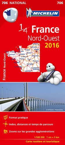 CARTE NATIONALE 706 FRANCE NORD-OUEST 2016