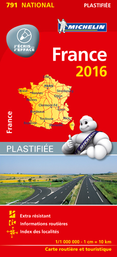 CARTE NATIONALE 791 FRANCE 2016 - PLASTIFIEE