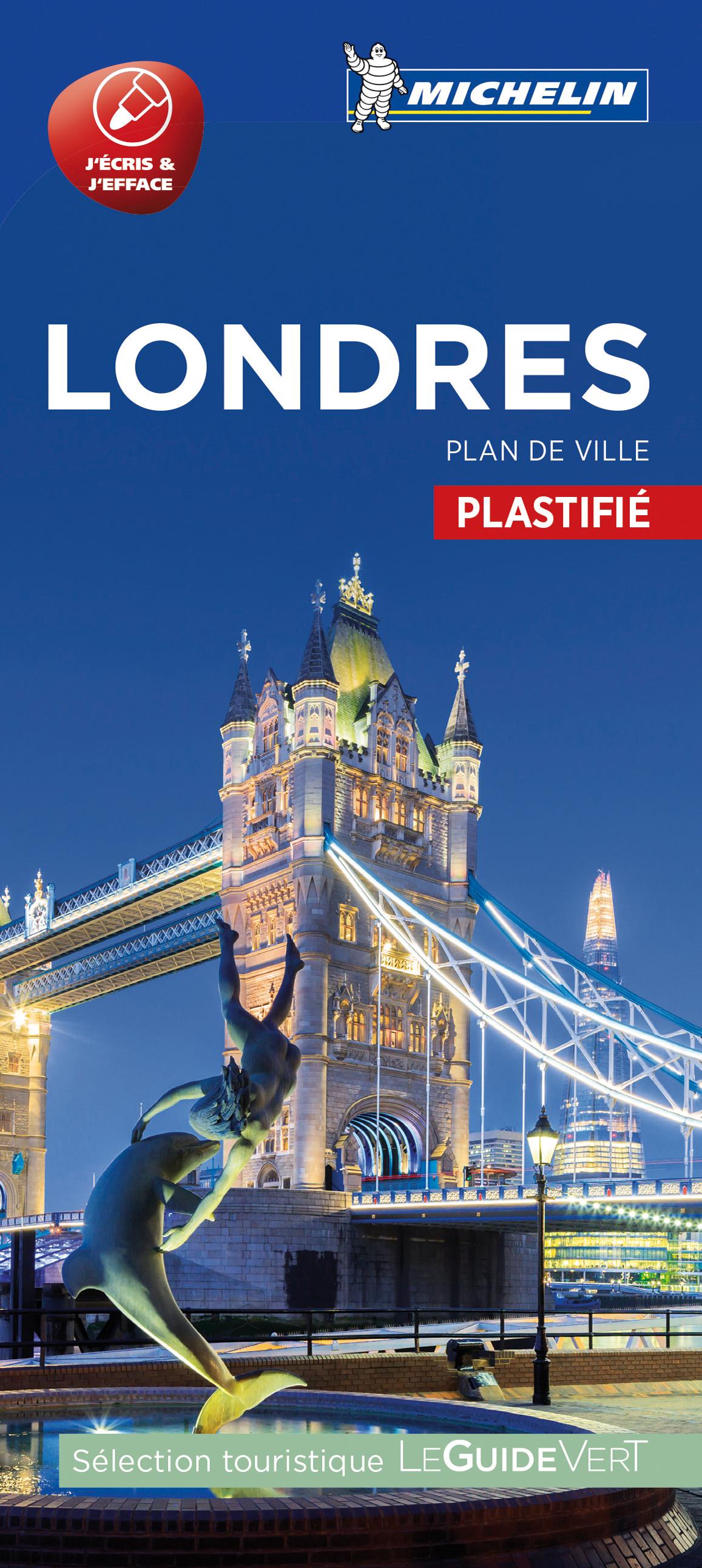 LONDRES - PLAN DE VILLE PLASTIFIE
