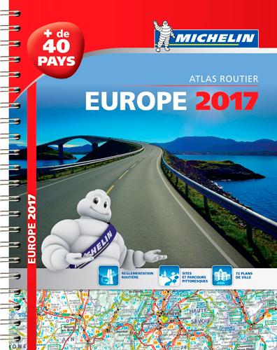 EUROPE 2017 - ATLAS ROUTIER E TOURISTIQUE (A4-SPIRALE)