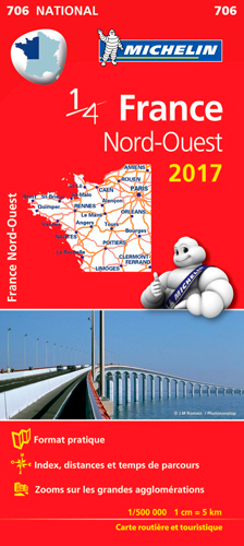 CARTE NATIONALE 706 FRANCE NORD-OUEST 2017