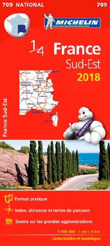 CARTE NATIONALE 709 FRANCE SUD-EST 2018