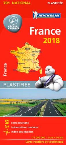CARTE NATIONALE 791 FRANCE 2018 - PLASTIFIEE