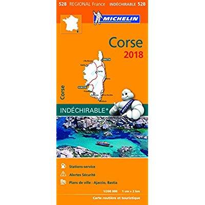 CARTE REGIONALE 528 CORSE 2018