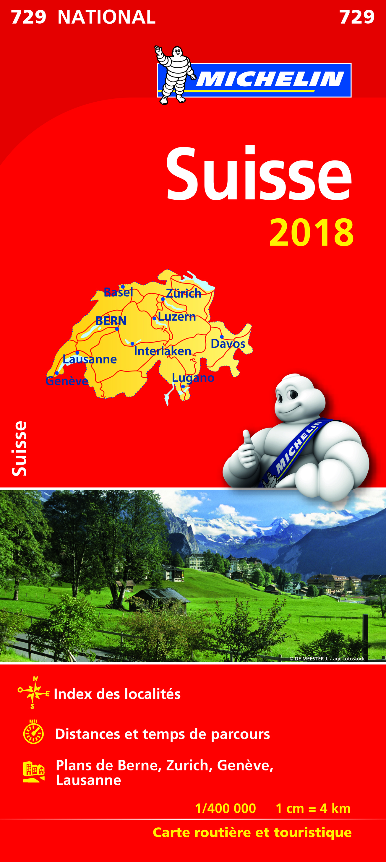 CARTE NATIONALE 729 SUISSE 2018