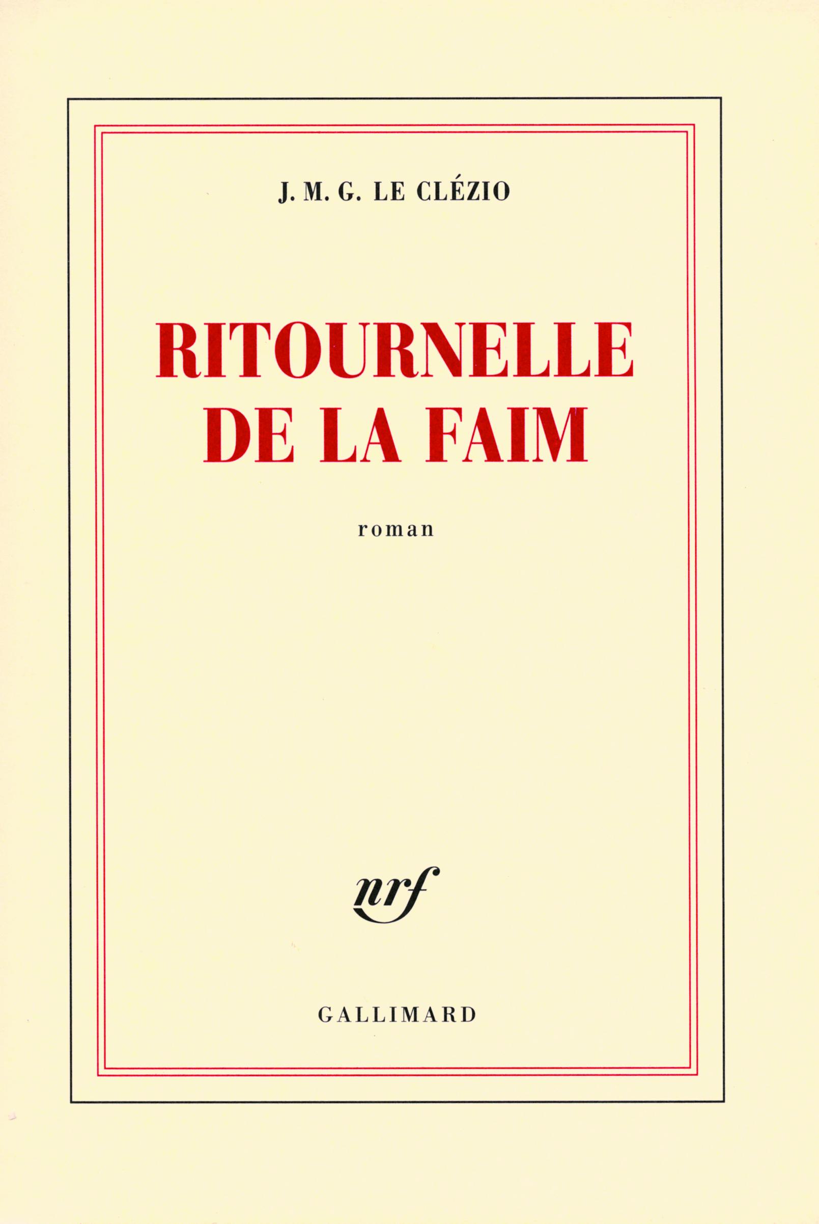 RITOURNELLE DE LA FAIM ROMAN