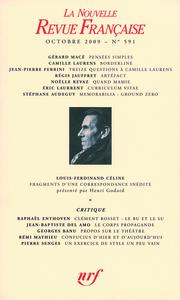 LA N.R.F. 591  (OCTOBRE 2009)