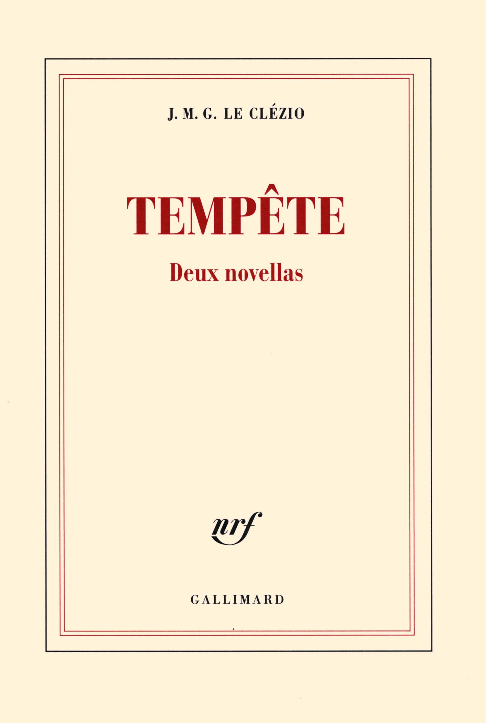 TEMPETE DEUX NOVELLAS