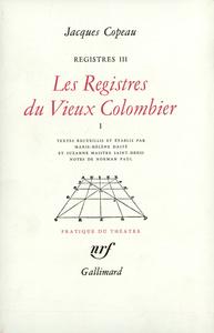 Les Registres du Vieux Colombier
