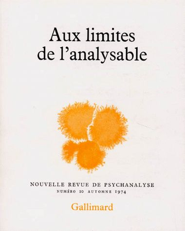 AUX LIMITES DE L'ANALYSABLE