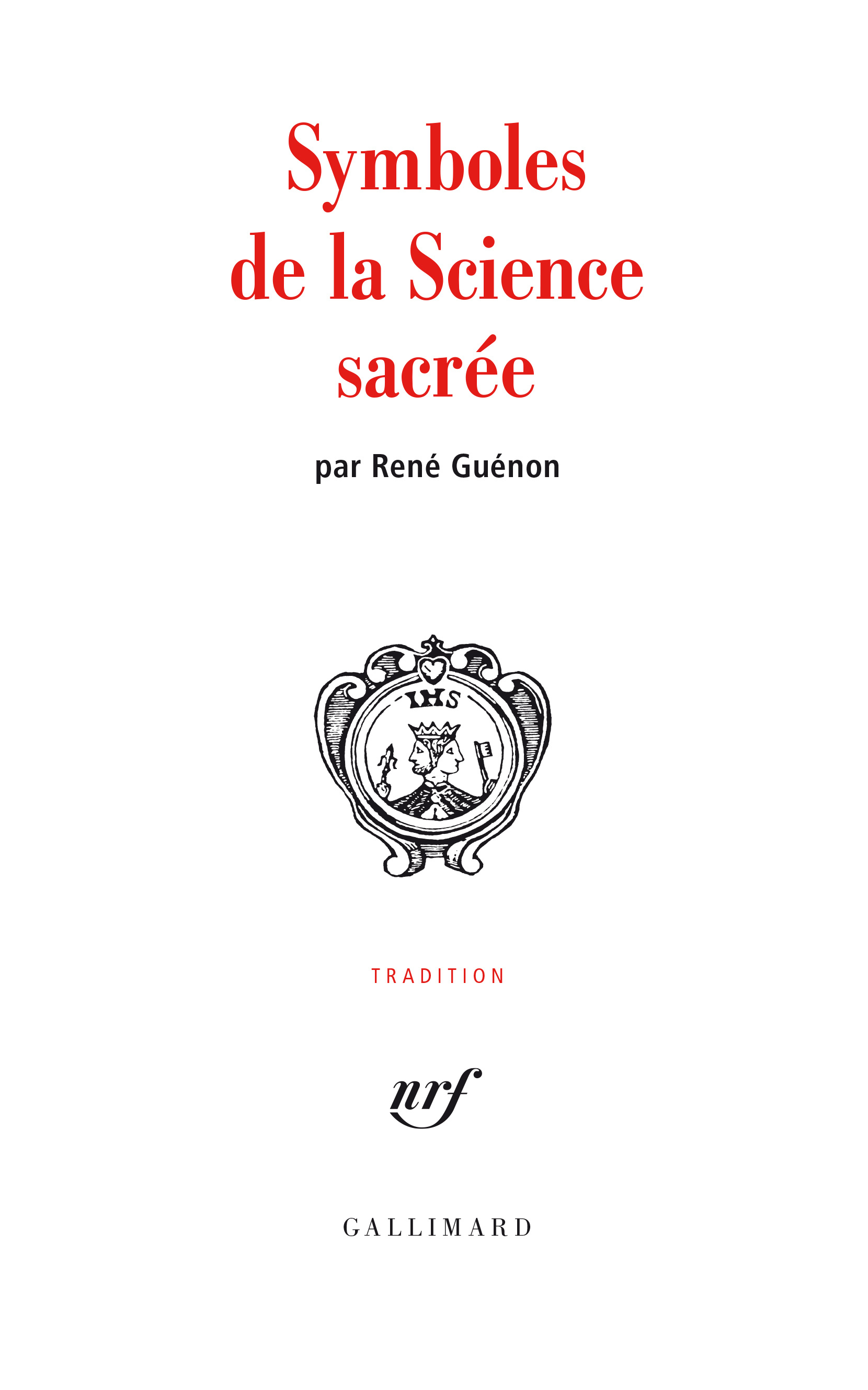 SYMBOLES DE LA SCIENCE SACREE