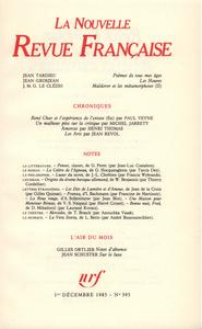 La Nouvelle Revue Française N° 395