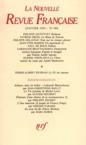 La Nouvelle Revue Française N° 480