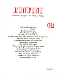 L'INFINI N62